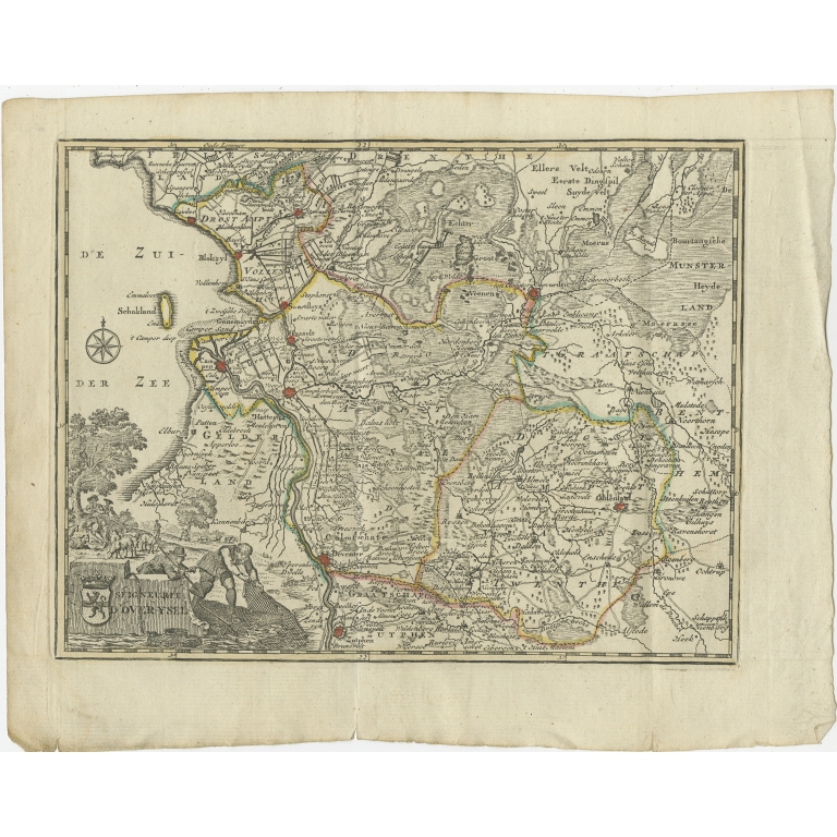 Antique Map of the Province of Overijssel by Keizer & De Lat (1788)