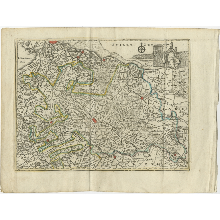 Antique Map of the Province of Utrecht by Keizer & De Lat (1788)