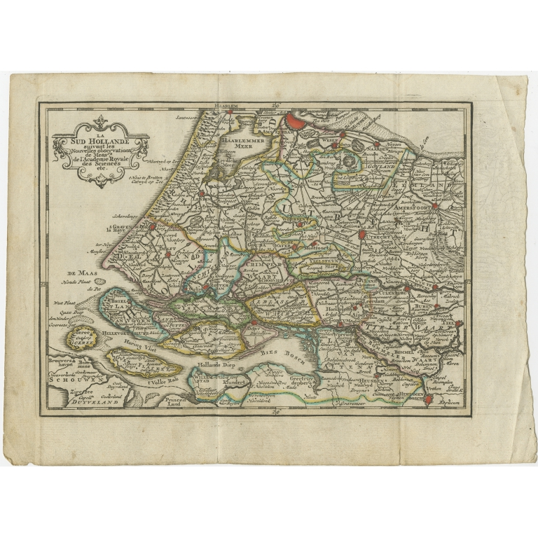 Antique Map of the Province of Zuid-Holland by Keizer & De Lat (1788)