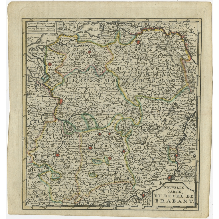 Antique Map of the Duchy of Brabant by Keizer & De Lat (1788)
