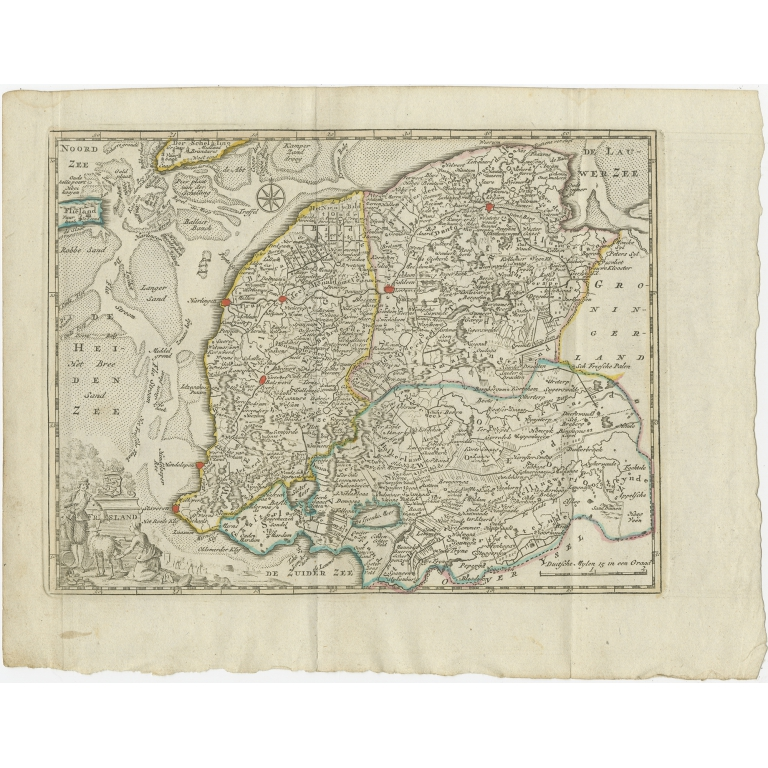 Antique Map of the Province of Friesland by Keizer & De Lat (1788)