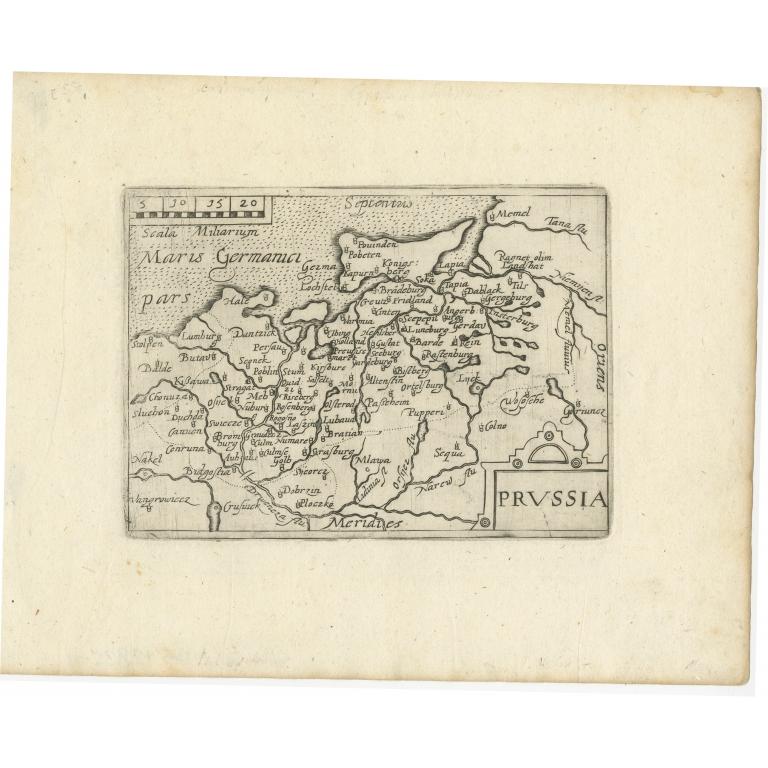Antique Map of Prussia (c.1640)