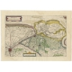 Antique Map of Flanders by Colom (1630)