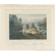 Antique Print of the Crater of Pulu-Sari by Lauters (c.1845)