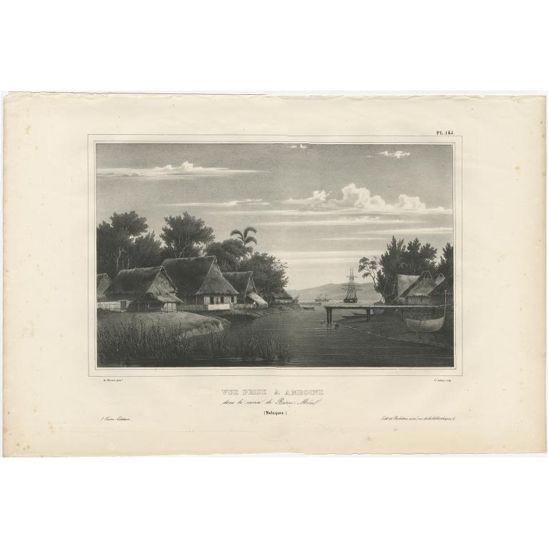 Antique Print of Ambon Island by Dumont d'Urville (1833)
