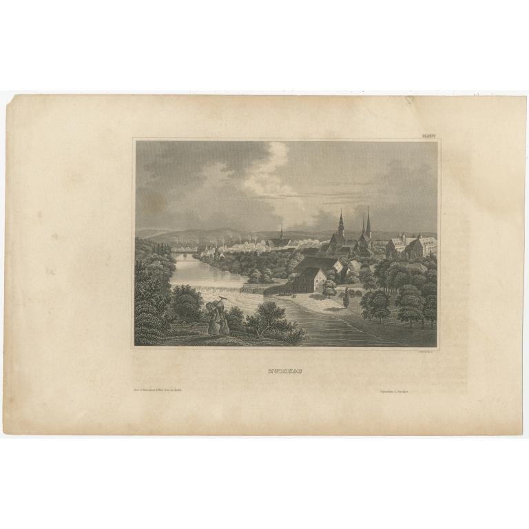 Antique Print of the Palais Garnier by Meyer (1847)