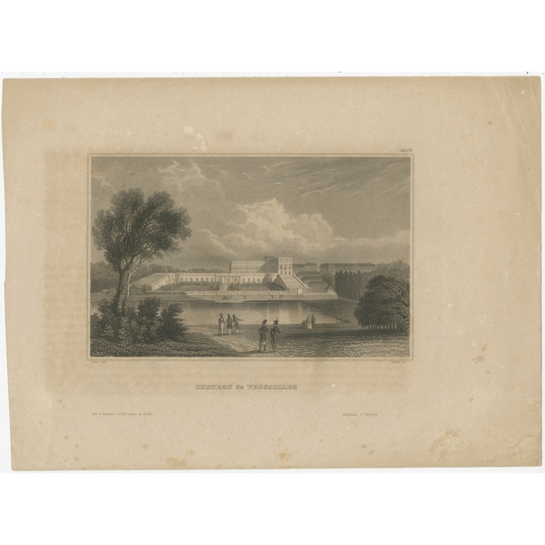 Antique Print of the Palace of Versailles by Meyer (1848)
