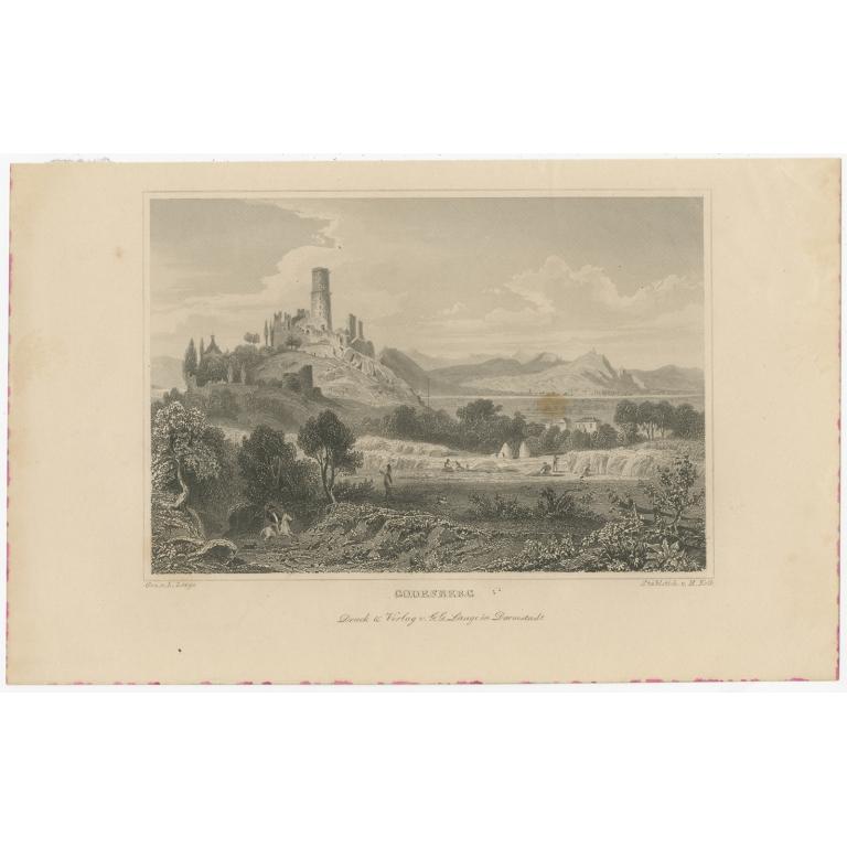 Antique Print of Bad Godesberg by Kolb (1847)