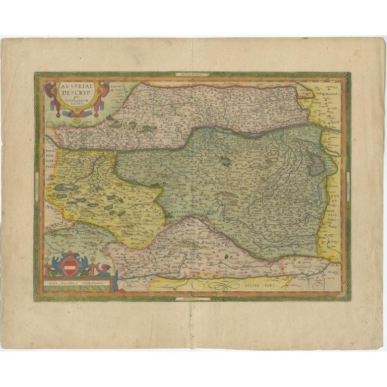 Antique Map of Austria by Ortelius (c.1612)