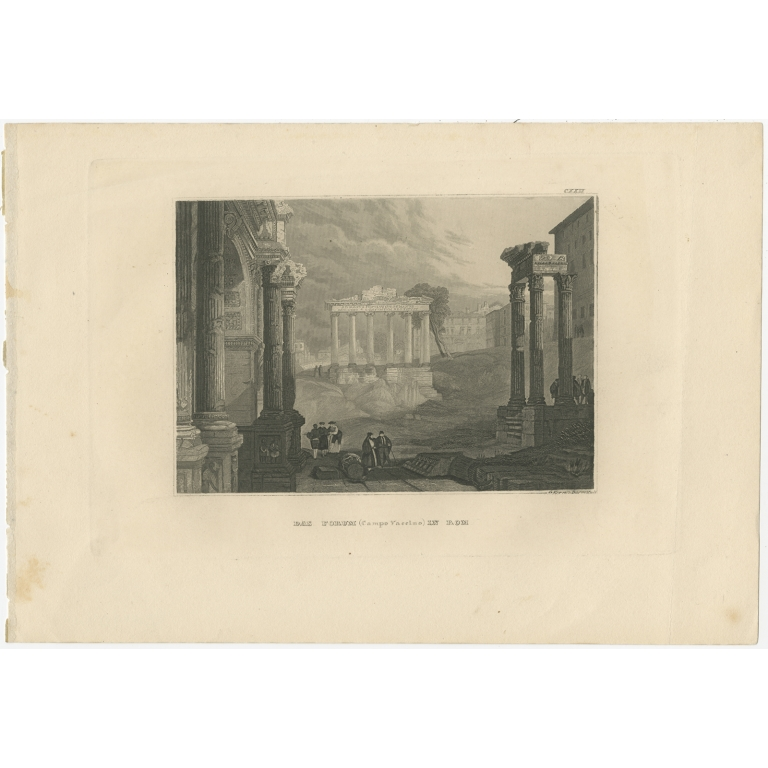 Antique Print of the Roman Forum by Meyer (1836)