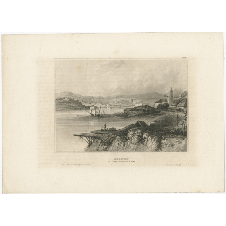 Antique Print of Sydney by Meyer (1840)