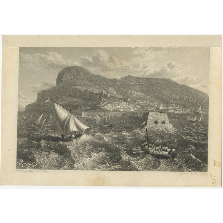 Antique Print of a Maritime Scene by Smith (c.1880)