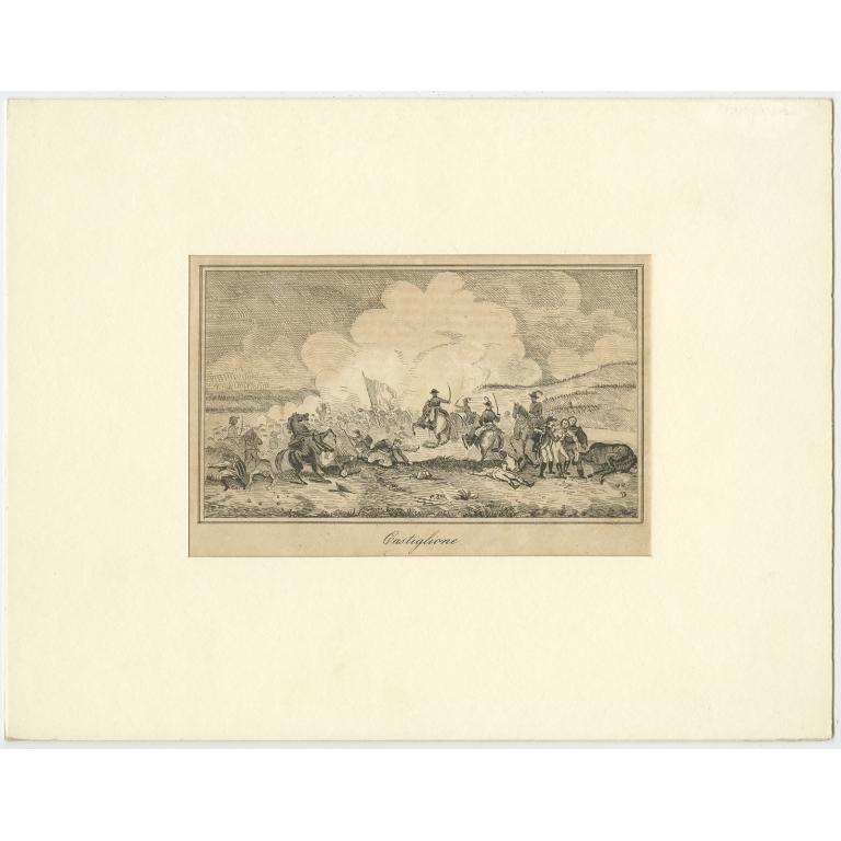 Antique Print of the Battle of Castiglione (c.1800)