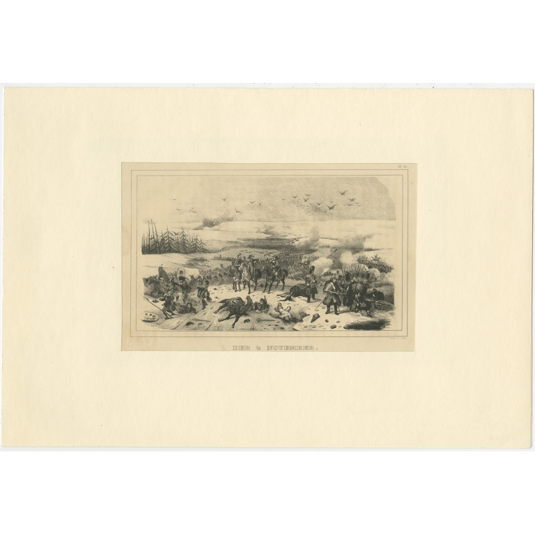 Antique Print of the Battle of 4 November 1812 by Steger (1845)