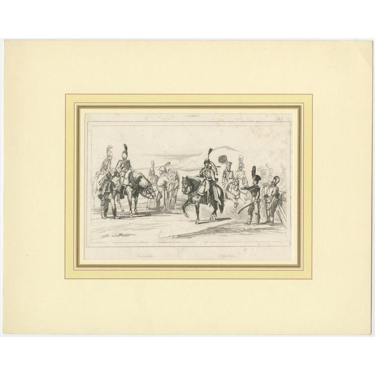 Antique Print of the Swedish Cavalry (c.1870)