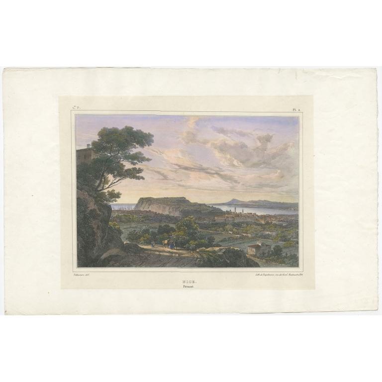 Antique Print of Nice by Engelmann (c.1830)