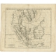 Antique Map of Southeast Asia by Chatelain (c.1732)