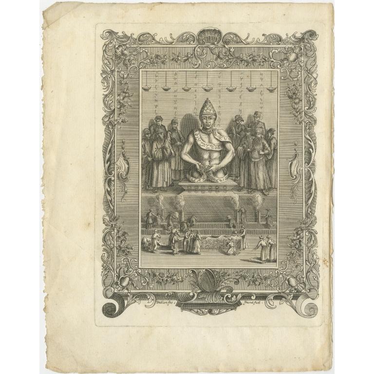 Antique Frontispiece with Religious Figures by Van Dùren (1752)