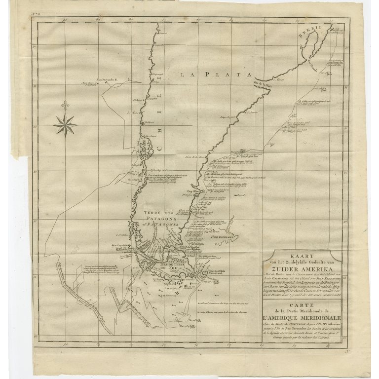 Antique Map of South America by Anson (1749)