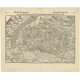 Antique Map of the city of Colmar by Münster (1552)