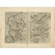Antique Map of the region of Calais and the Vermandois region by Ortelius (c.1602)