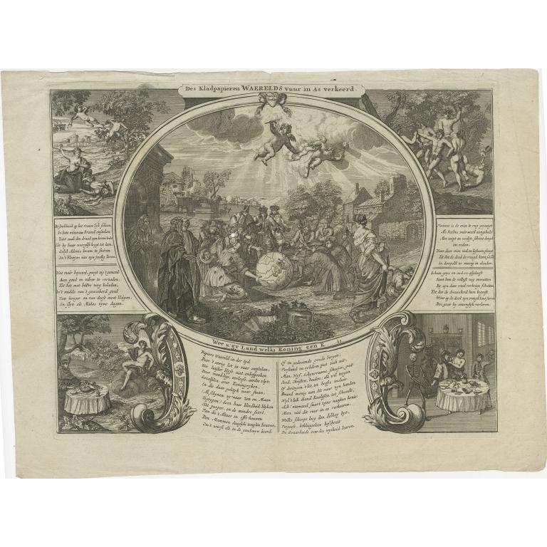 Antique Satire Print on the South Sea Bubble (1720)
