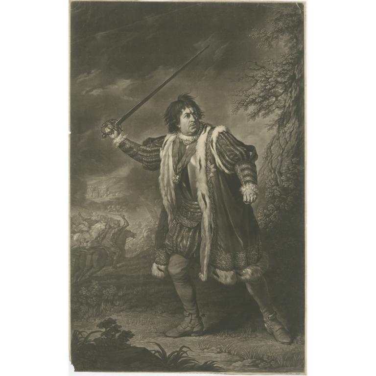 Antique Print of David Garrick as Richard III (c.1825)