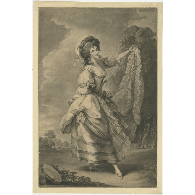 Antique Portrait of Giovanna Baccelli by Jones (1784)