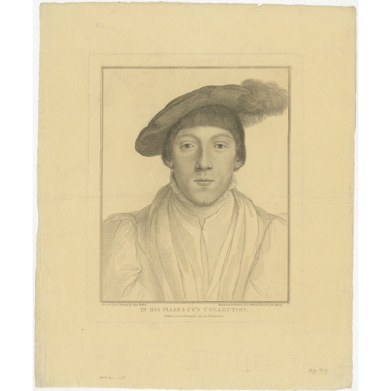 Antique Portrait of the Earl of Surrey by Chamberlaine (c.1795)