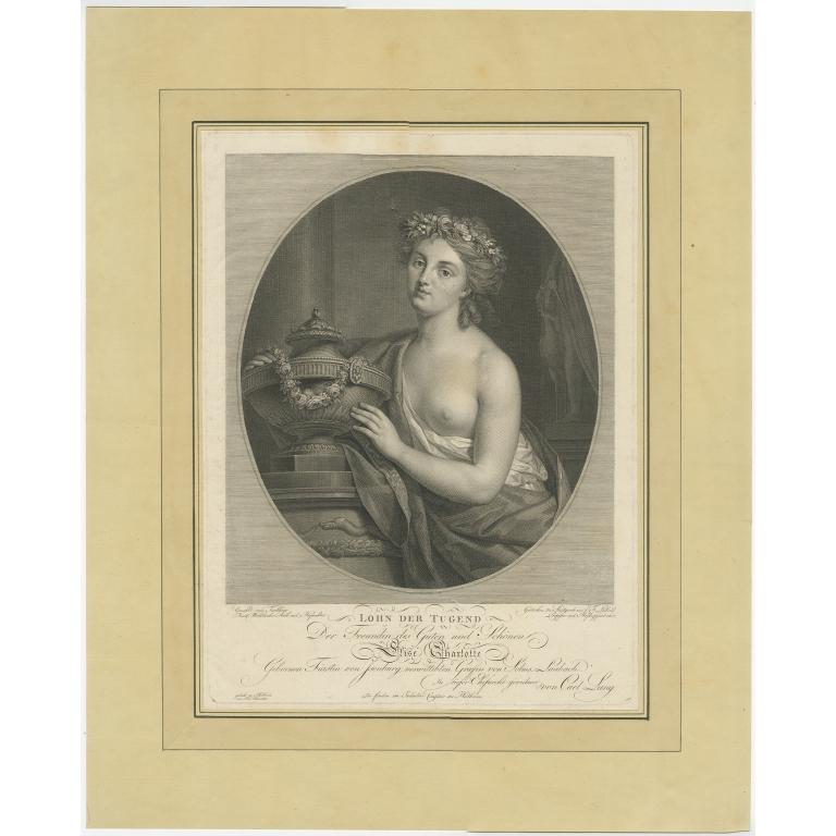 Antique Portrait of a friend of Elise zu Solms-Laubach by Leibold (c.1790)