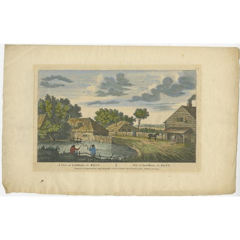 Antique Print of Lewisham by Bowles (1770)