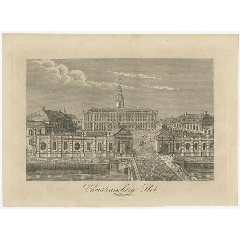 Antique Print of Christiansborg Slot (c.1860)