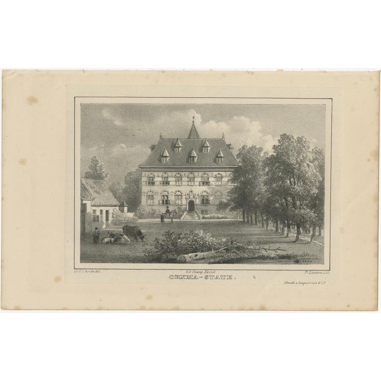 Antique Print of Orxmastate by Van der Aa (1846)