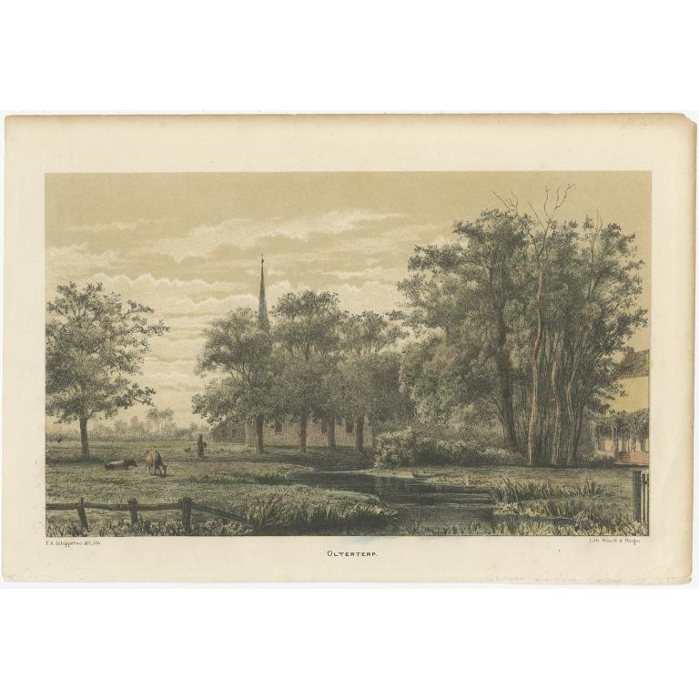 Antique Print of Olterterp by Craandijk (1875)