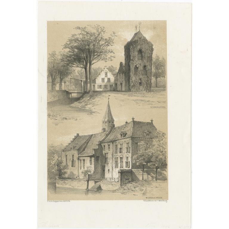 Antique Print of Schierstins and Wiarda State by Craandijk (1888)
