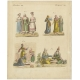 Antique Print of Turkish Women and their Costumes by Bertuch (1810)