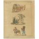 Antique Print of Scenes in Turkey by Bertuch (1810)