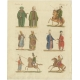 Antique Print of Turkish Military Costumes by Bertuch (1810)