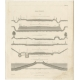 Pl. 66 Antique Print of Road Making by Turrell (c.1838)