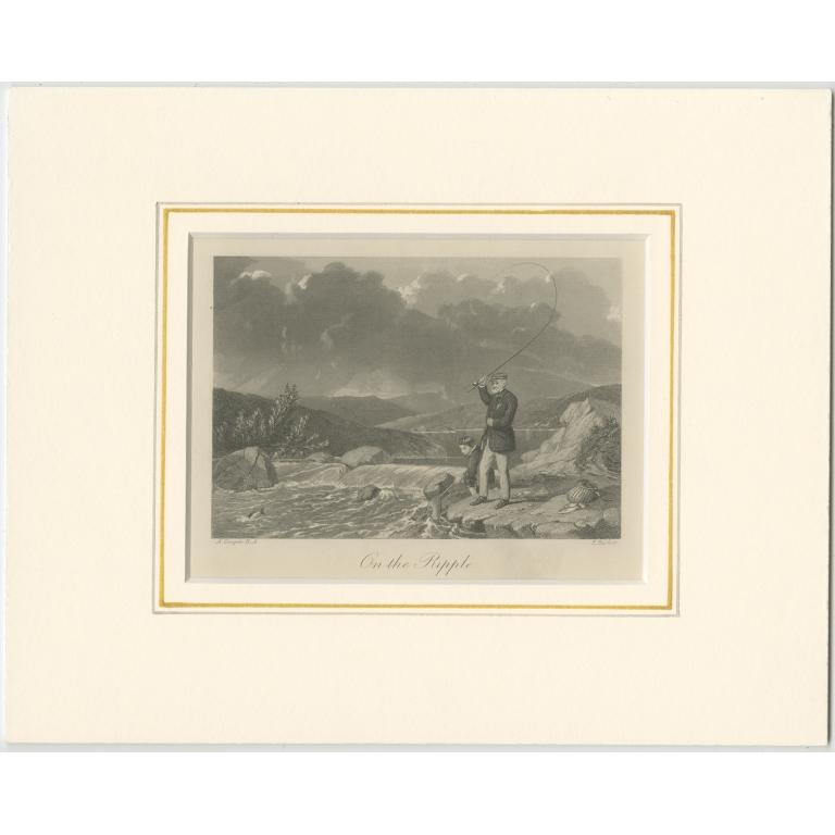 Antique Print of Fishermen by Hacker (1867)