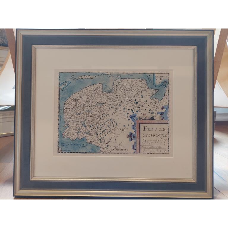 Antique Map of Friesland by Claesz (1612)