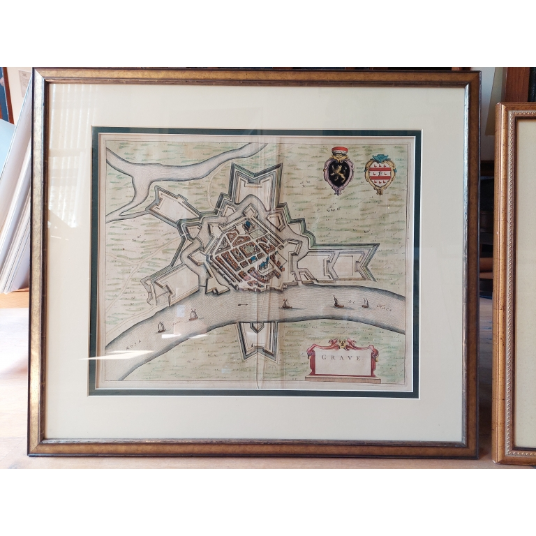 Antique Map of the city of Grave by Blaeu (1649)