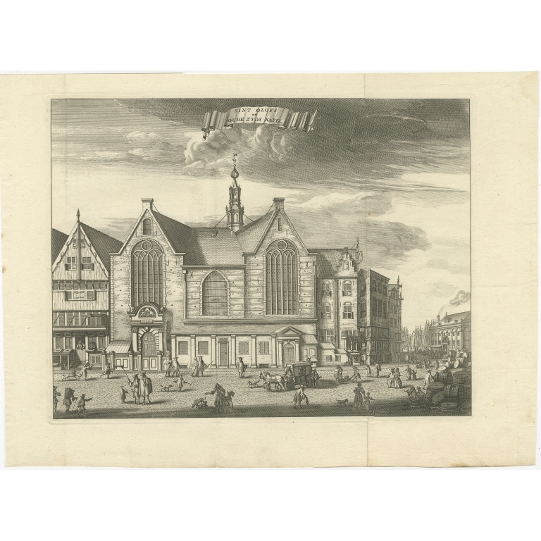Antique Print of the 'Sint-Olofskapel' by Tirion (c.1765)