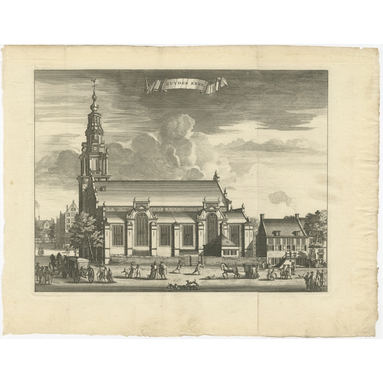 Antique Print of the 'Zuiderkerk' by Tirion (c.1765)