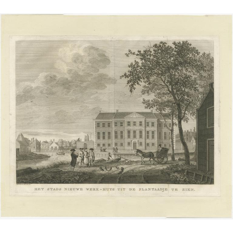 Antique Print of the 'Nieuwe Werkhuis' by Schoute (c.1790)
