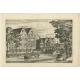 Antique Print of the City Bank of Loan by Dapper (c.1663)