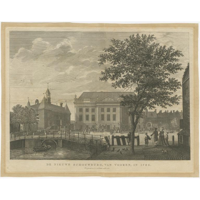 Antique Print of the 'Nieuwe Schouwburg' by Conradi (1787)