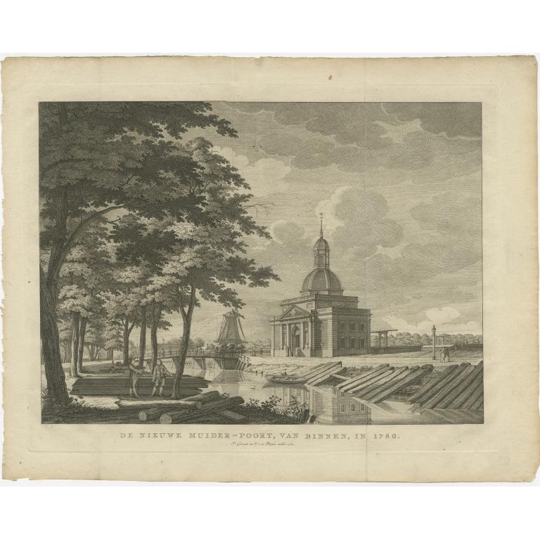 Antique Print of the 'Nieuwe Muiderpoort' by Conradi (1787)