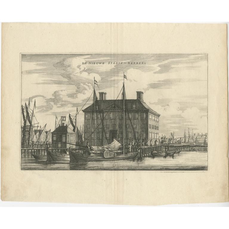 Antique Print of the 'Nieuwe Stadsherberg' by Dapper (c.1663)