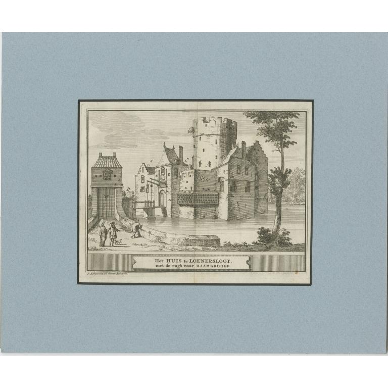 Antique Print of Loenersloot Castle by Smids (1774)